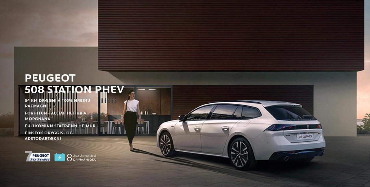 Peugeot 508 station PHEV 7 ára ábyrgð