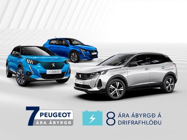 Peugeot 7 ára ábyrgð forsíðufrétt