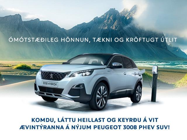 Peugeot 3008 PHEV sumar 2020 mobile