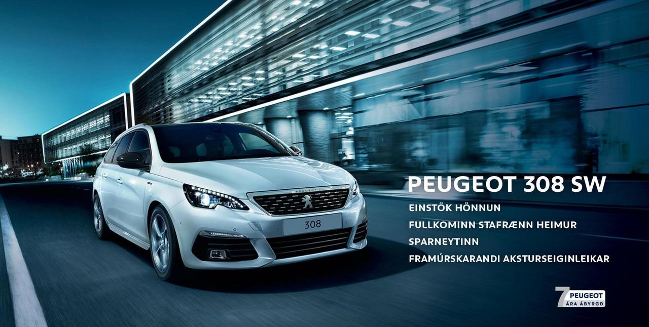 Peugeot 308 station 7 ára ábyrgd. punktar