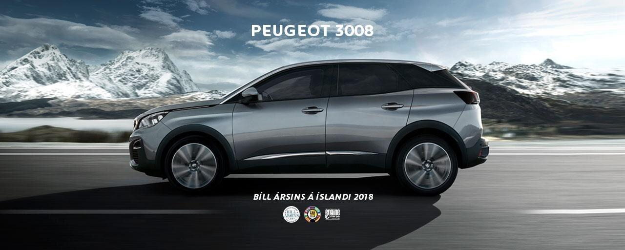 Peugeot 3008 Bíll ársins