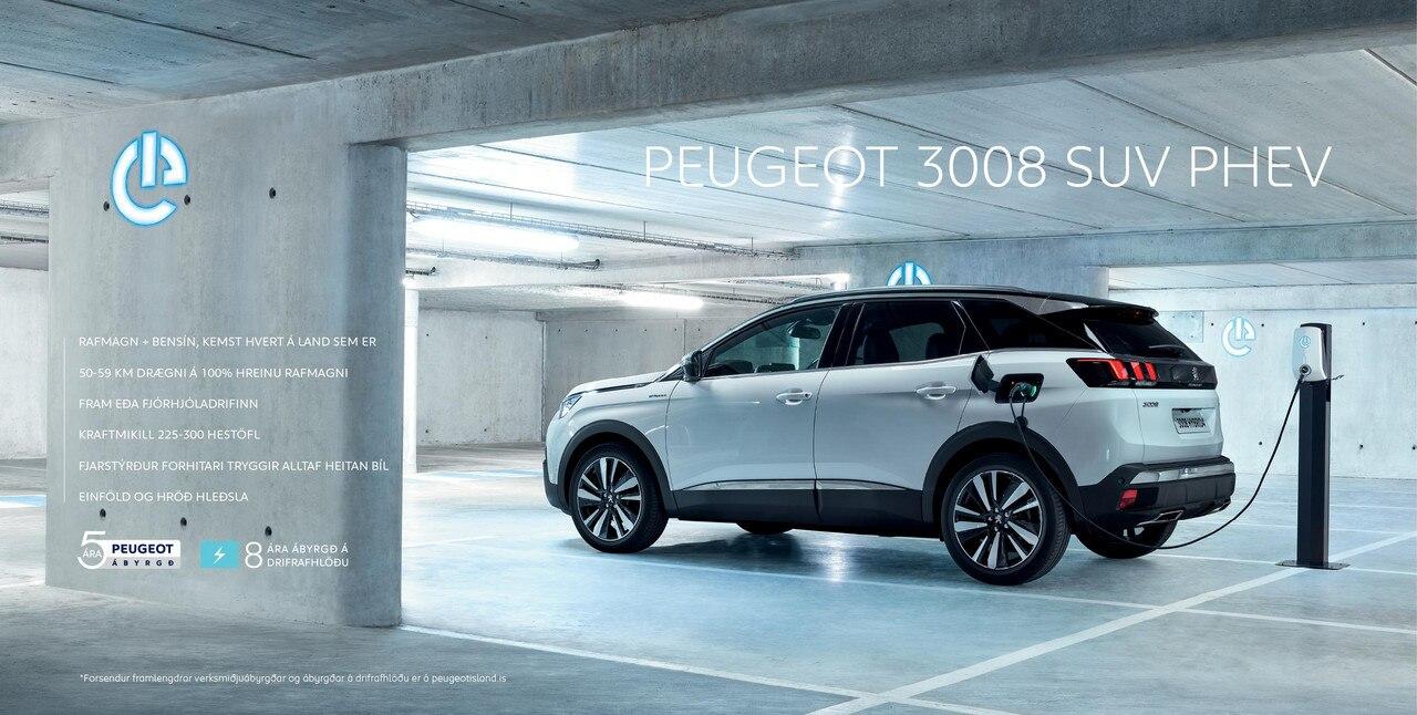 Peugeot 3008 PHEV sjórúm