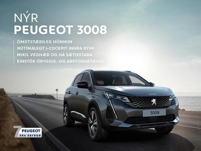 Nýr Peugeot 3008 7 ára ábyrgð og punktar mobile