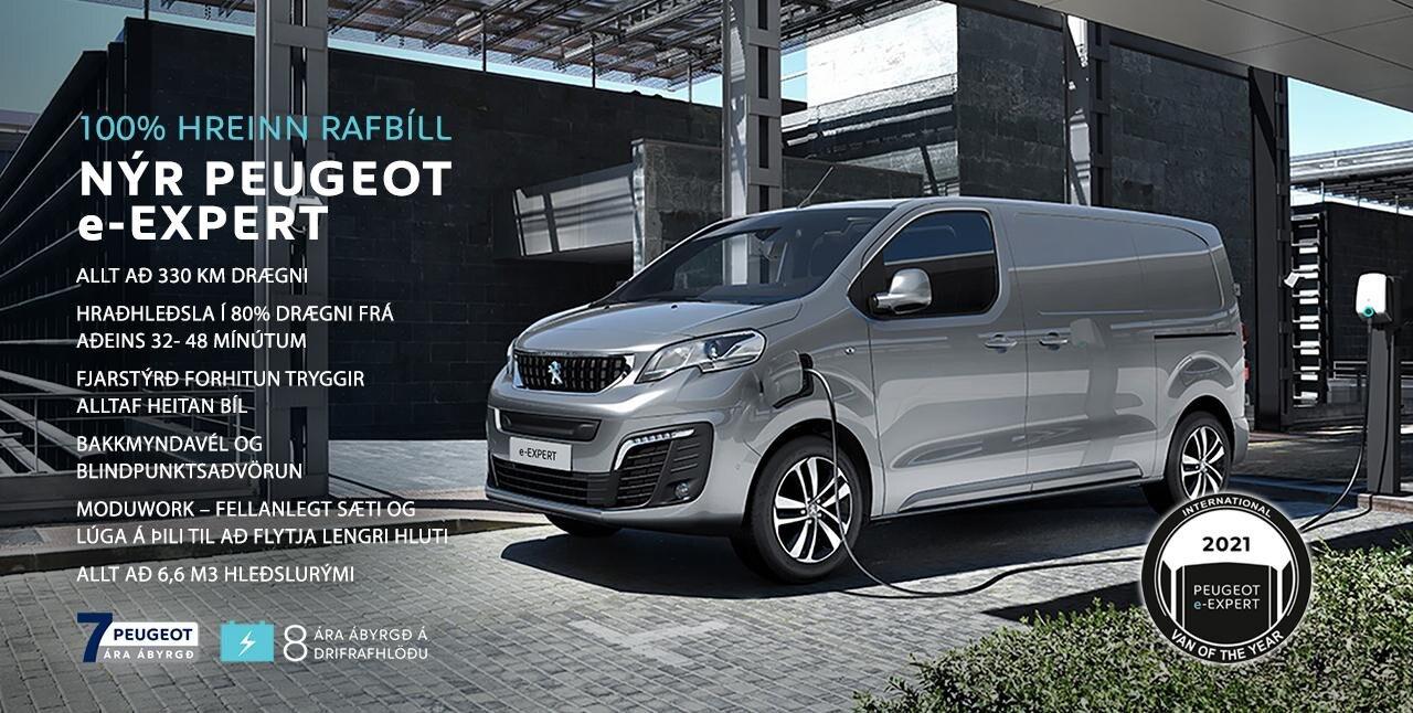 Peugeot e-Expert rafsendibíll sendibíll ársins 2021