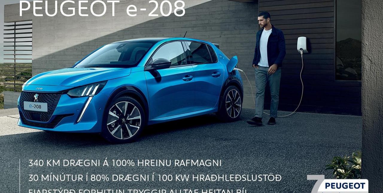 Peugeot e-208 mobile