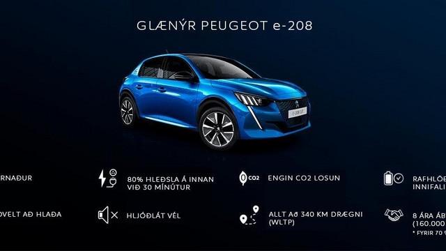 Peugeot e-208.skyringarmynd