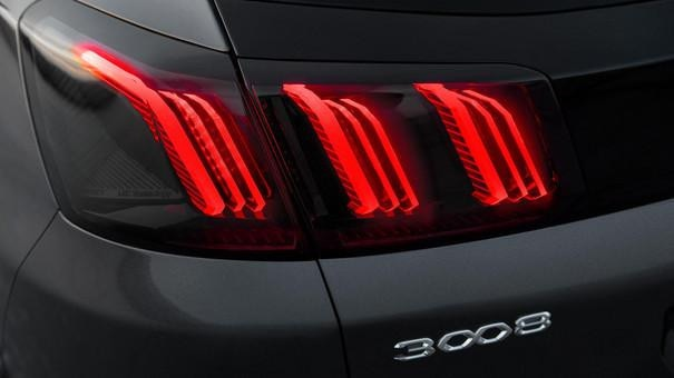 Nýr Peugeot 3008 afturljós