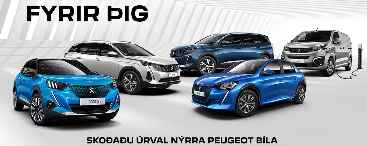 Peugeot í vefsýningarsal