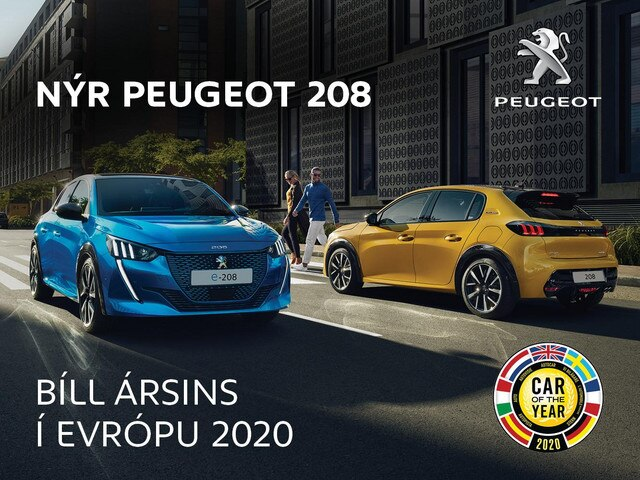 Peugeot 208 car of the year mobile